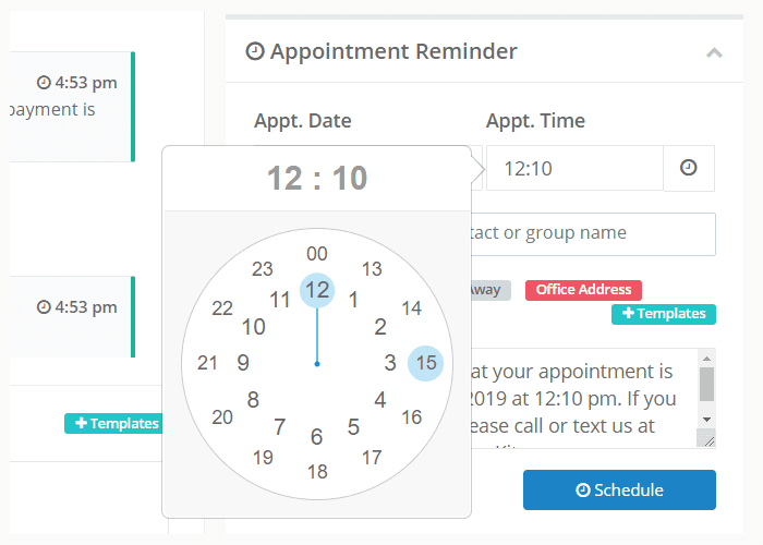 MessageKite's Appointment Reminder screenshot